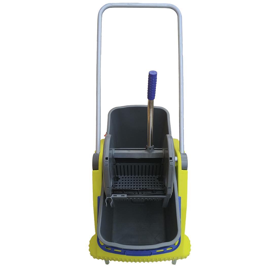 Carrello per pulizie Lux Lavapavimenti Professionale (con Doppia vasca da 25Litri e strizzatore)