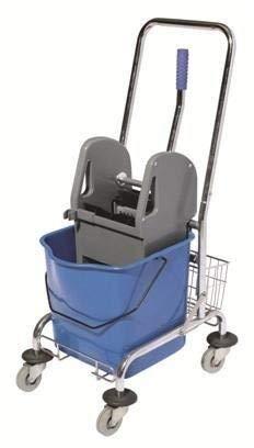 Carrello per pulizie MONOVASCA (Lava pavimenti con Porta flaconi e Vasca da 23Lt)