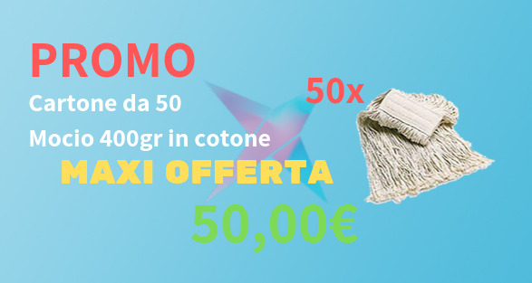 Ricambio mop in cotone 400gr mocio