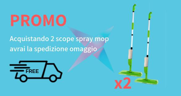 Spray mop per pulizia pavimenti e vetri