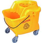 Secchio per pulizie professionali mono vasca con strizzatore e ruote