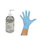 Guanti in Nitrile (100 pz. Taglia M) + Gel igienizzante mani da 500 ml